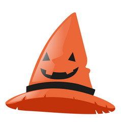 Witch hat on white background vector