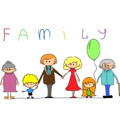 Big family child picture vector image
