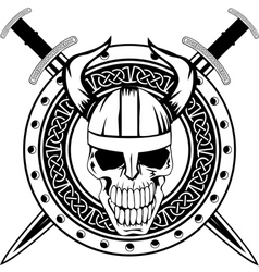 board and skull vector image vector image