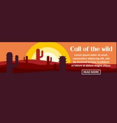 call of the wild banner horizontal concept vector image