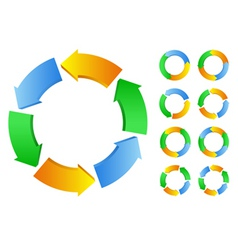 circles with arrows vector image vector image