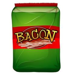 Green bag of bacon vector image vector image