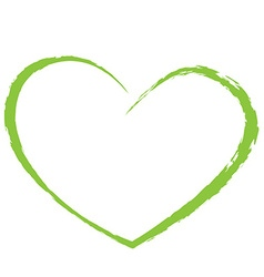 green heart drawing love valentine vector image vector image