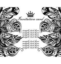 Invitation card in tattoo style vector