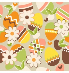 seamless Easter pattern with eggs vector image vector image