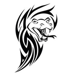snake tattoo vintage engraving vector image vector image