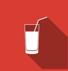 soft drink icon isolated with long shadow vector image