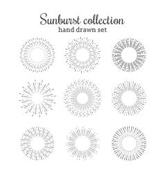 Sunburst collection Retro rays frames vector image vector image