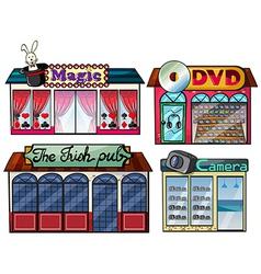 Amusement area dvd and camera shop vector image