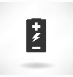 battery simple icon vector image