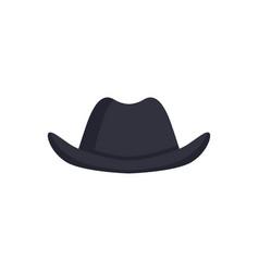 black bowler hat carnival headdress element vector image