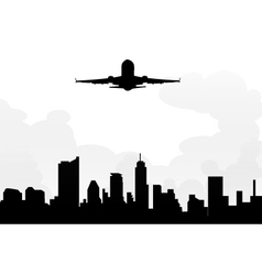 Cityscape and morning Flight vector image