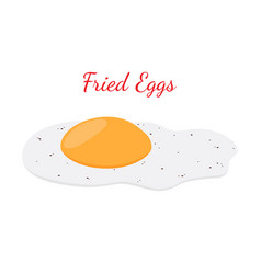 fried egg breakfast cartoon flat style vector image vector image