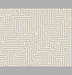 intricacy labyrinth maze seamless pattern vector image