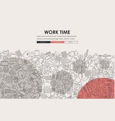 office doodle website template design vector image vector image
