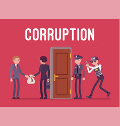 Officials arrested in corruption case vector