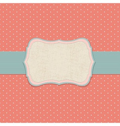 Retro Pastel Label vector image