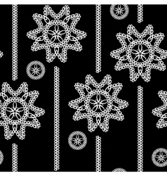seamless monochrome background with white lace flo vector image vector image
