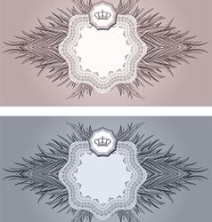 baroque cards vector image vector image
