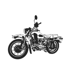 Black and white painted motorcycle vector image