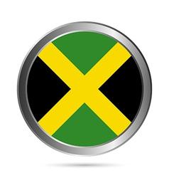 Jamaica flag button vector image vector image