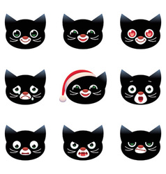 Cartoon smilies cats vector image vector image