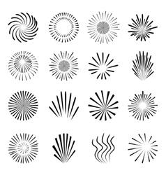 Fireworks set isolated on white background vector image