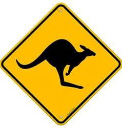 kangaroo sign vector image vector image