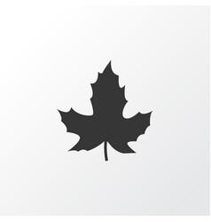 maple icon symbol premium quality isolated leaf vector image