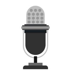 Retro microphone icon flat style vector image