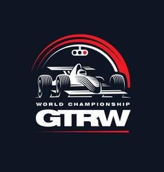 sport car on dark background vector image