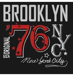 T-shirt Printing Brooklyn New York USA - vector image vector image