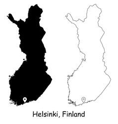 1067 helsinki finland vector image