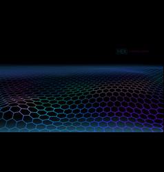 3d futuristic connection hexagon grid web vector image