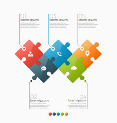 5 options infographic template vector