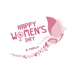 8 March happy womens day vector image