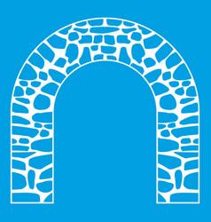 arch icon white vector image