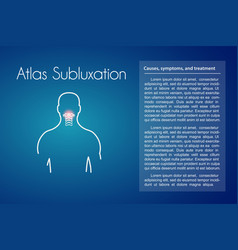 Atlas subluxation blue background vector