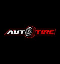 Auto tire logo template vector