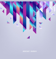 Background with gradient geometric shapes and copy vector