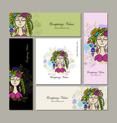 banners design floral fairy vector image