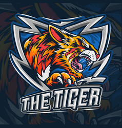 Bengal tiger as an es-port logo vector