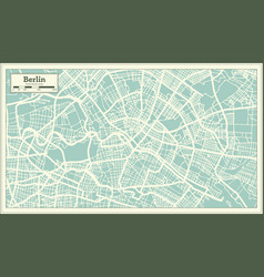 Berlin germany city map in retro style outline map vector