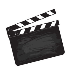 Blank cinema production black clapper board vector