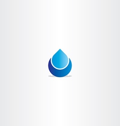 Blue logo drop water icon sign vector