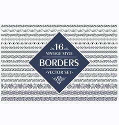 Border seamless pattern set vector
