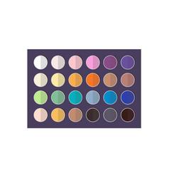 Bright and dark eyeshadows big colorful palette vector