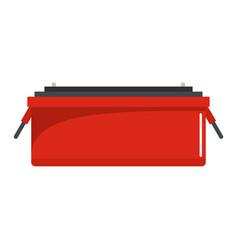 car accumulator icon flat style vector image