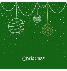 Christmas card balls snowflakes tree vector