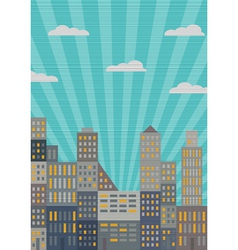 City in retro style vector image